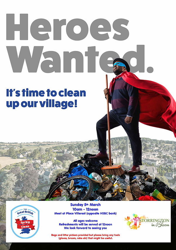 Great British Cleanup in Storrington @ Place Villerest | Storrington | England | United Kingdom
