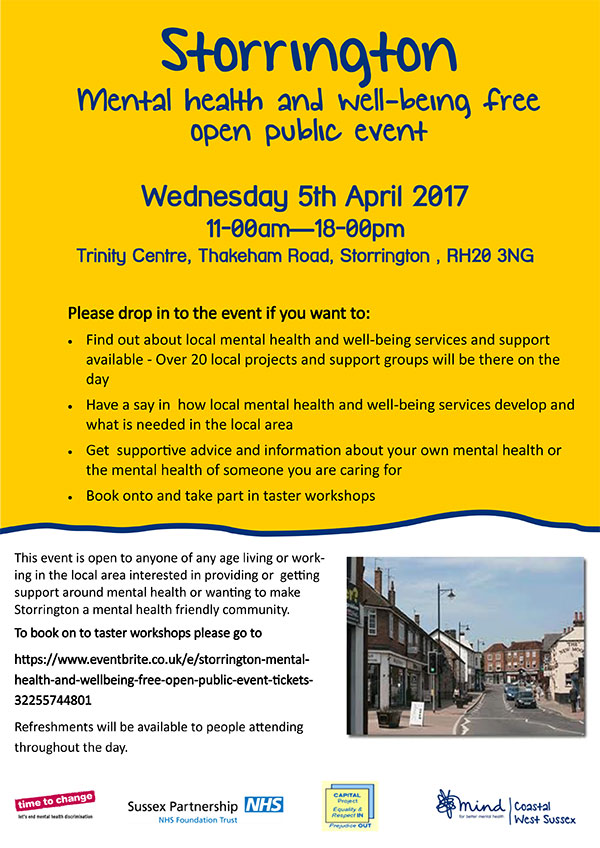 Mental health & well-being event @ Trinity Centre | Storrington | England | United Kingdom