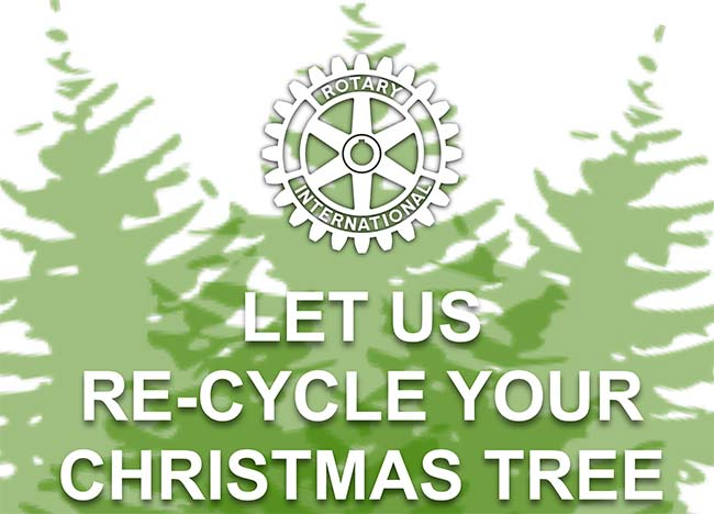 Rotary Christmas Tree recycling