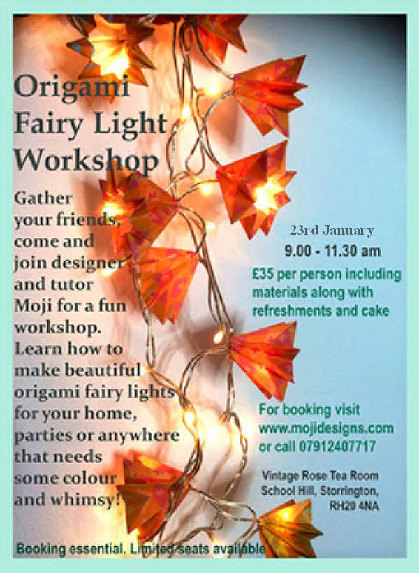 Origami Fairy Light Workshop @ Vintage Rose Tea Room | Storrington | England | United Kingdom