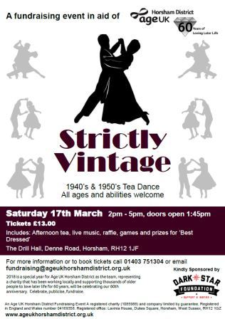 Strictly Vintage Tea Dance for Age-UK @ The Drill Hall | England | United Kingdom