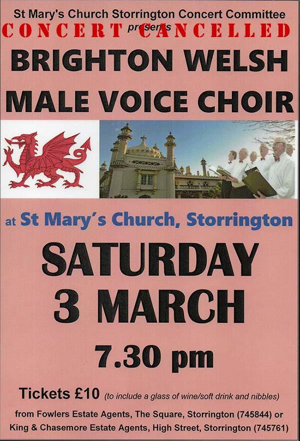 Choir concert cancelled! @ Storrington Parish Church | Storrington | England | United Kingdom