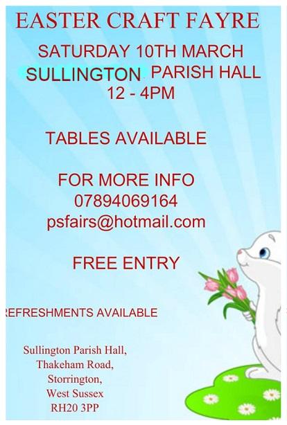 Easter Craft Fayre @ Parish Hall, Thakeham Road | Storrington | England | United Kingdom