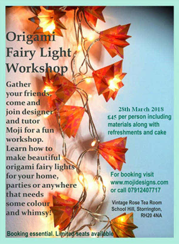 Origami Fairy Light Workshop @ Vintage Rose Tea Room | Storrington | England | United Kingdom