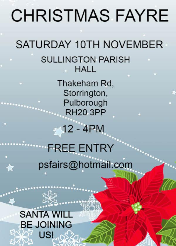 Christmas fayre Storrington