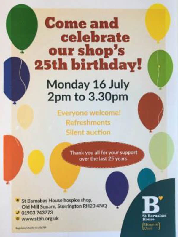 St. Barnabas shop's 25th birthday @ St, Barnabas Shop | Storrington | England | United Kingdom