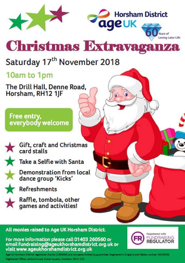 Age UK Horsham - Christmas Extravaganza @ The Drill Hall | England | United Kingdom