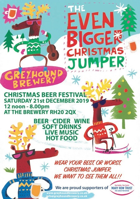 Greyhound Brewery's Even Bigger Christmas Jumper @ Greyhound Brewery   West Chiltington   England   United Kingdom