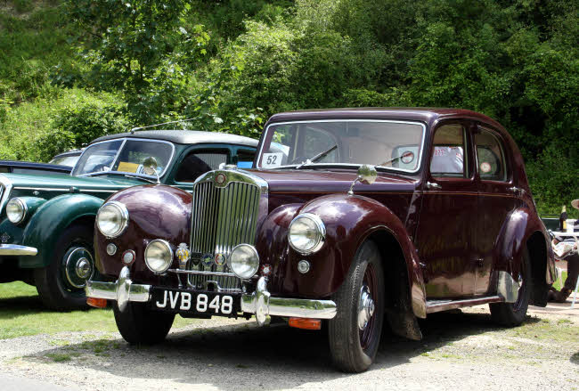 Classic cars at Amberley