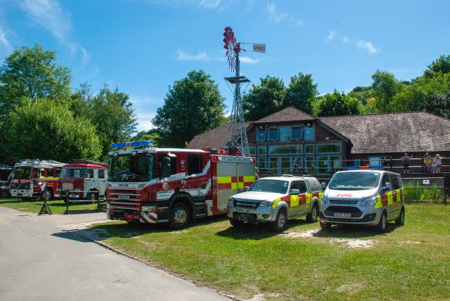 Emergency Services Vehicles at Amberley