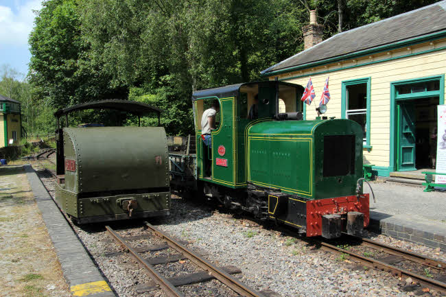 Train at Amberley Museum