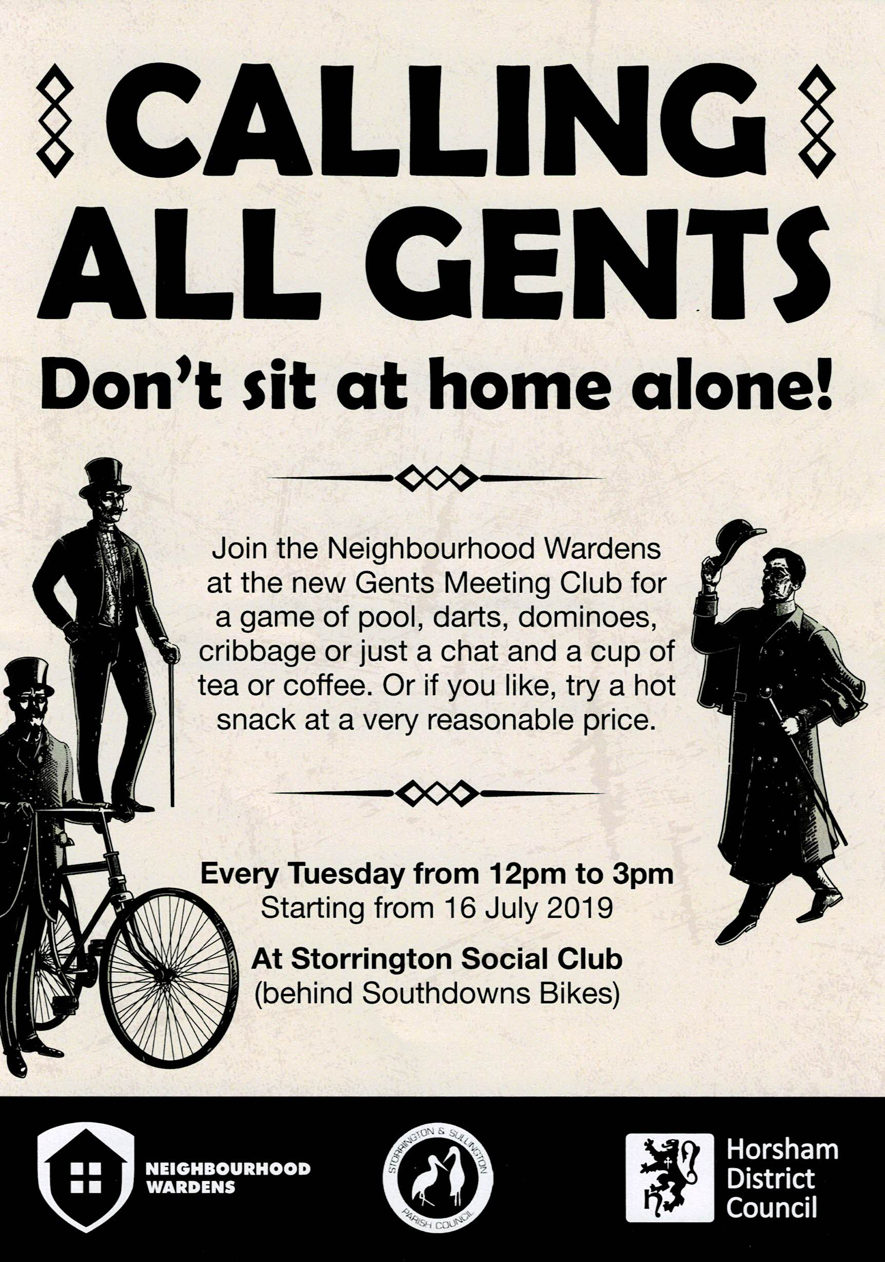 Gents Meeting Club @ Storrington Social Club | Storrington | England | United Kingdom