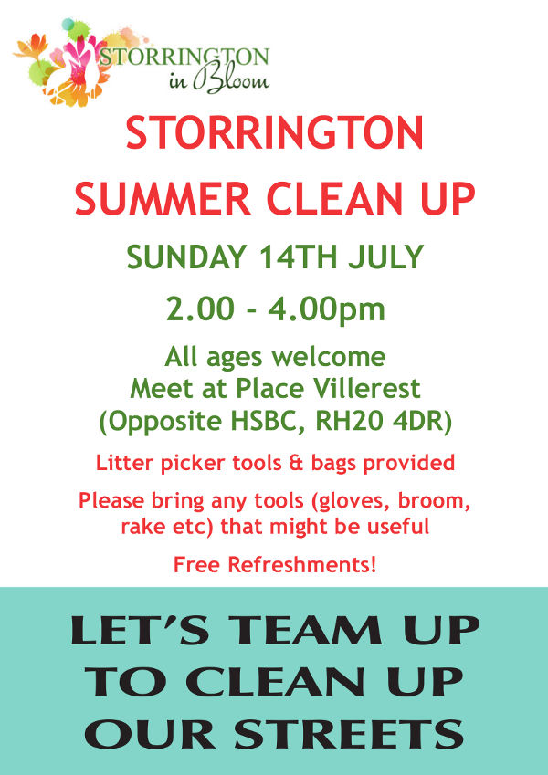 Let's team up to clean our streets @ Place Villerest | Storrington | England | United Kingdom