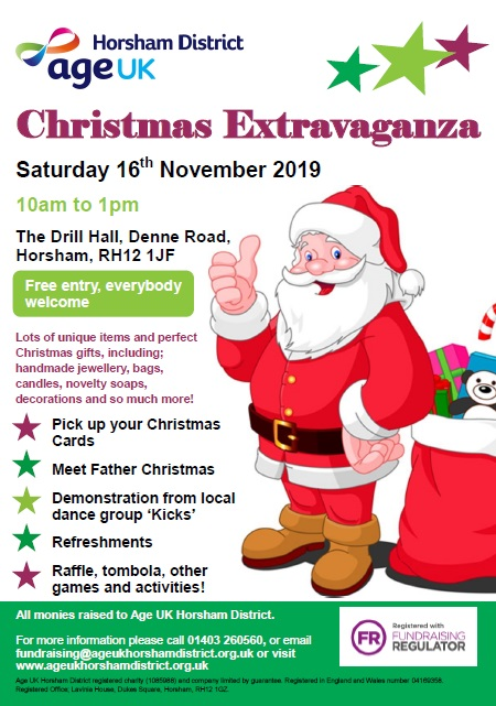 AgeUK Horsham District Christmas Extravaganza @ TheDrill Hall | United Kingdom