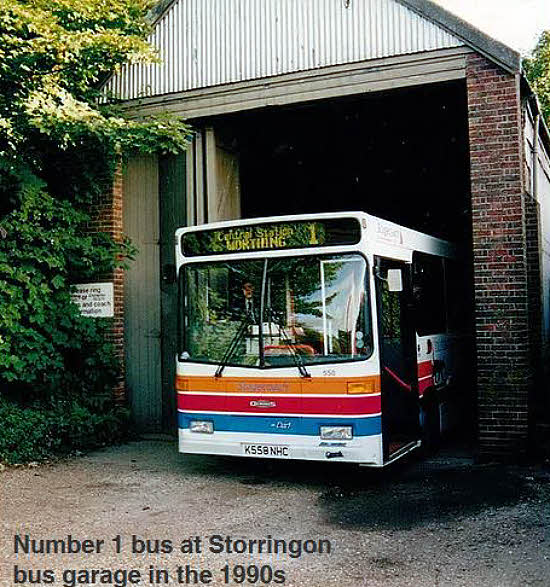 Storrington bus in garage
