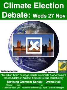 Climate Election Debate @ Steyning Grammar School - Drama Hall | England | United Kingdom