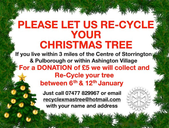 Let Rotary recycle your Christmas Tree for charity