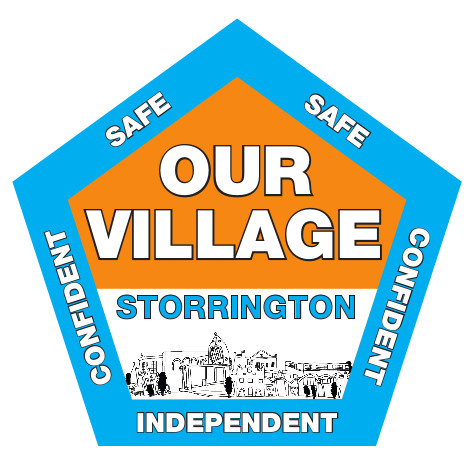 Our Village sticker