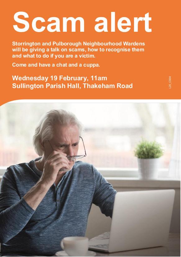 Scam alert talk from Neighbourhood Wardens @ The Parish Hall | Storrington | England | United Kingdom