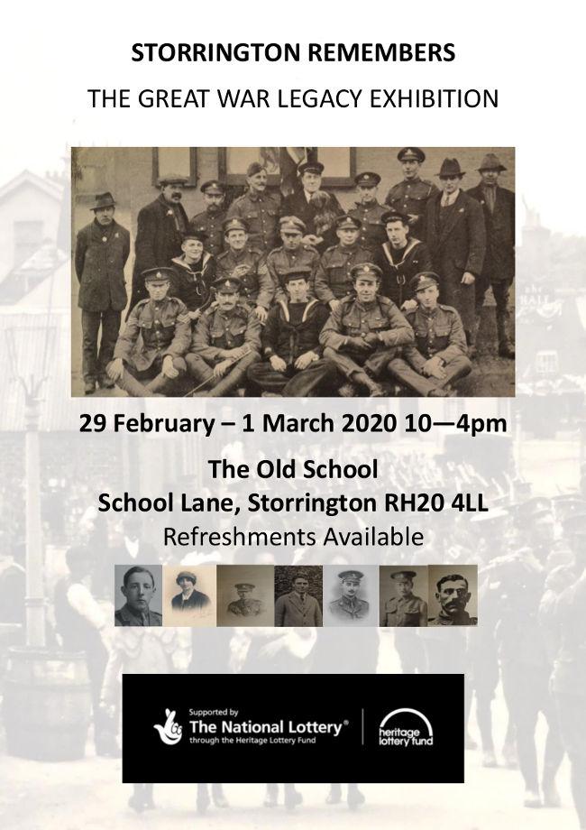 Storrington Remembers poster