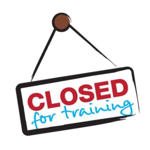 closed for training