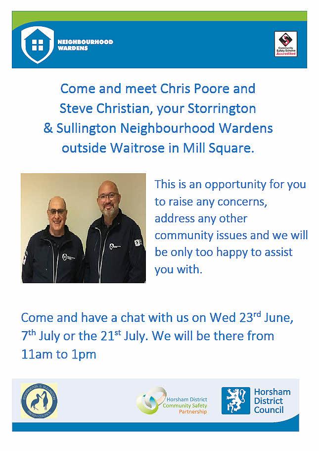 Meet Storrington and Sullington Neighbourhood Wardens @ Outside Waitrose   Storrington   England   United Kingdom
