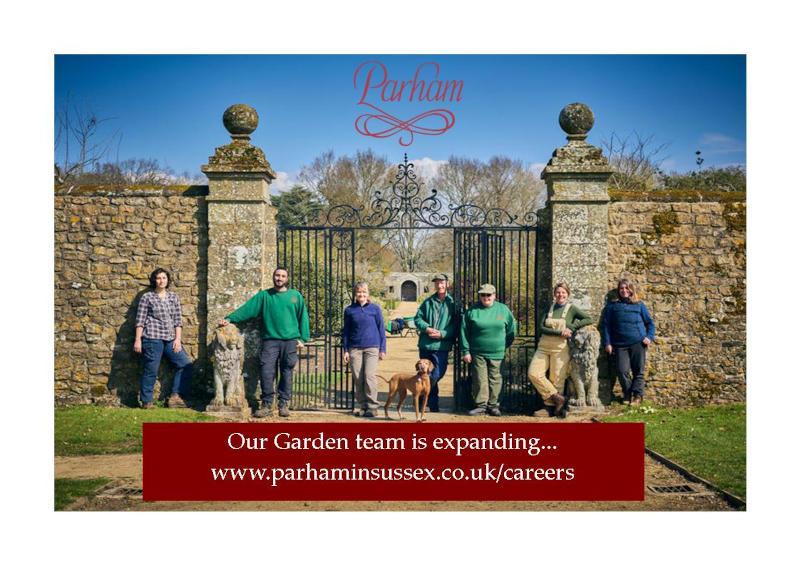 Parham Garden team Advert Oct 2021