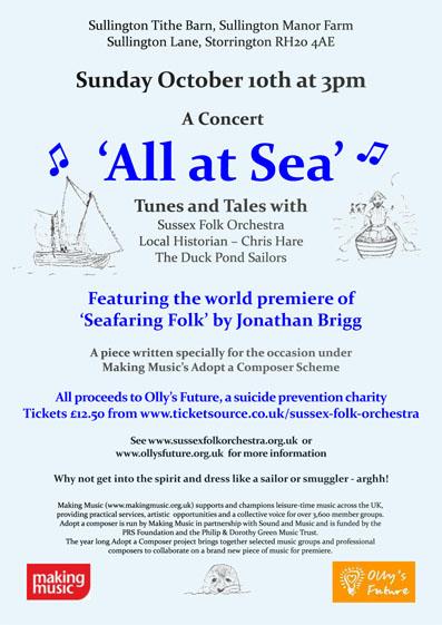 All At Sea Concert @ Tithe Barn, Sullington Manor Farm | Storrington | England | United Kingdom